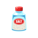 調味料シリーズ!瓶に入った塩(しお)のイラスト素材