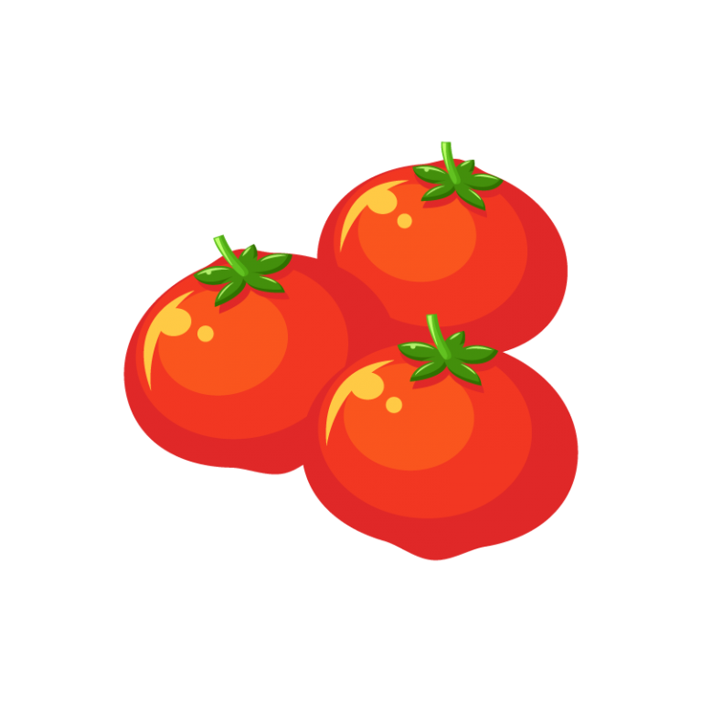 真っ赤なミニトマト(プチトマト)のイラスト素材