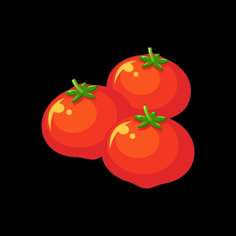 真っ赤なミニトマトプチトマトのイラスト素材 商用可能な無料