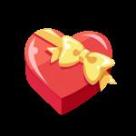 箱入りバレンタインチョコレートのイラスト素材