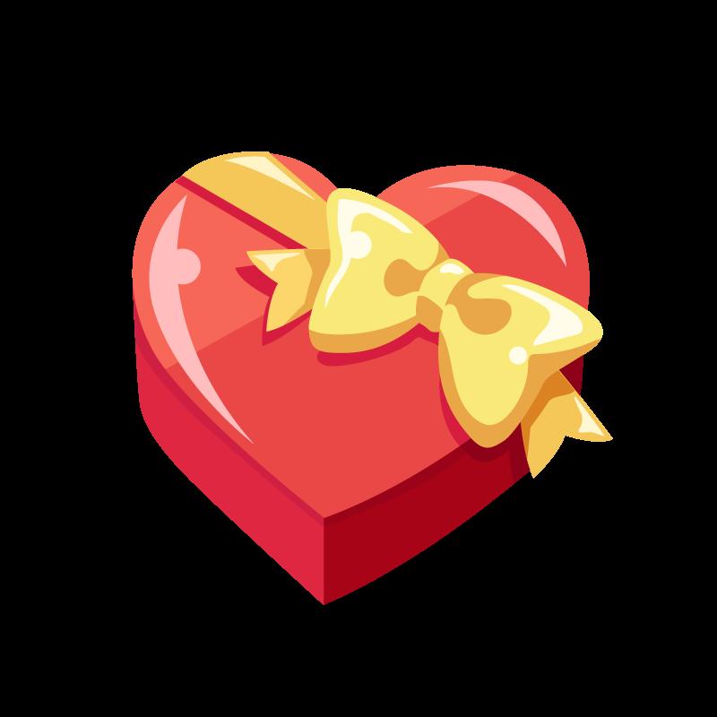 箱入りバレンタインチョコレートのイラスト素材 商用可能な無料フリー