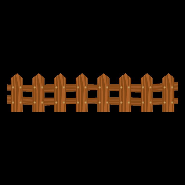 柵(フェンス)のイラスト素材