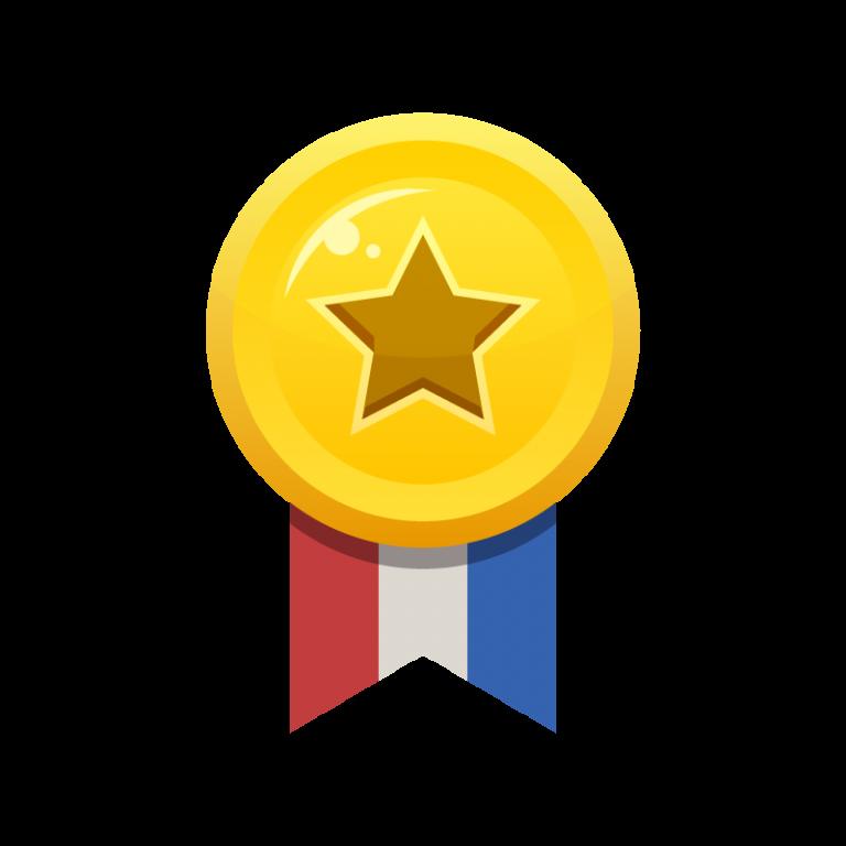 ランキング1位がもらえる金メダルのイラスト素材
