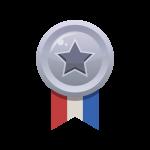 ランキング2位がもらえる銀メダルのイラスト素材