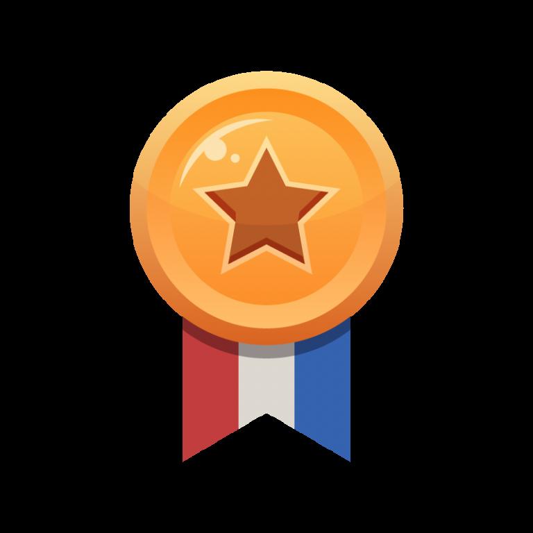 ランキング3位がもらえる銅メダルのイラスト素材