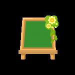 メッセージボード(ウェルカムボード/メニューボード/黒板/看板)のイラスト素材