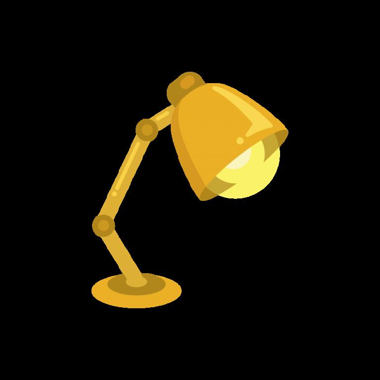 電気スタンド(卓上ライト/デスクランプ)のイラスト素材