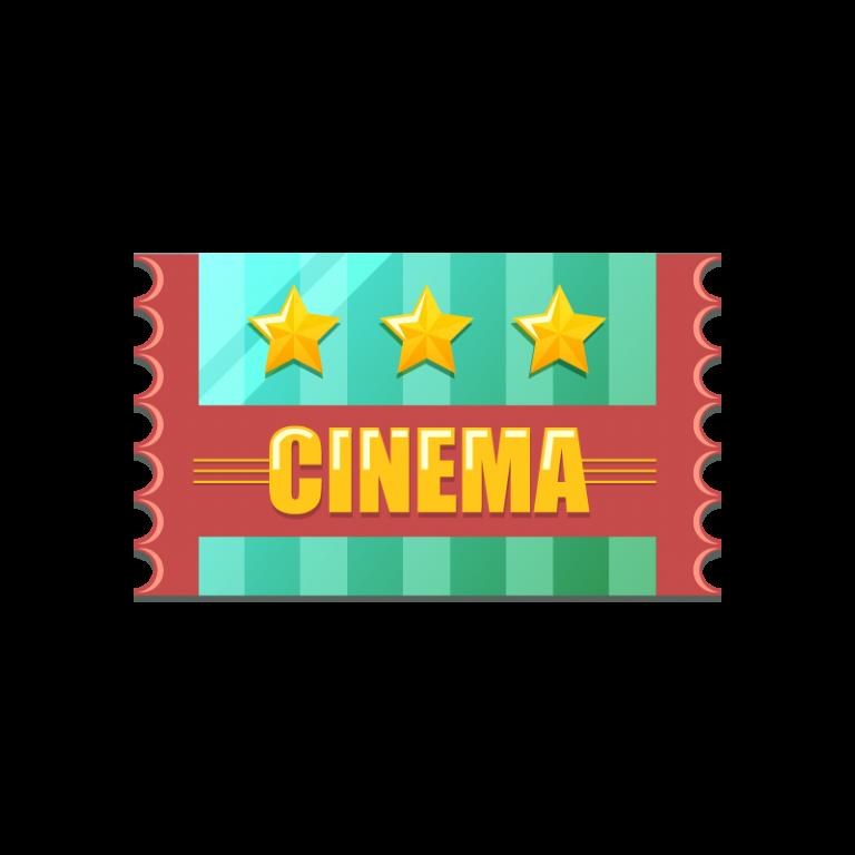 映画のチケット(入場券)のイラスト素材