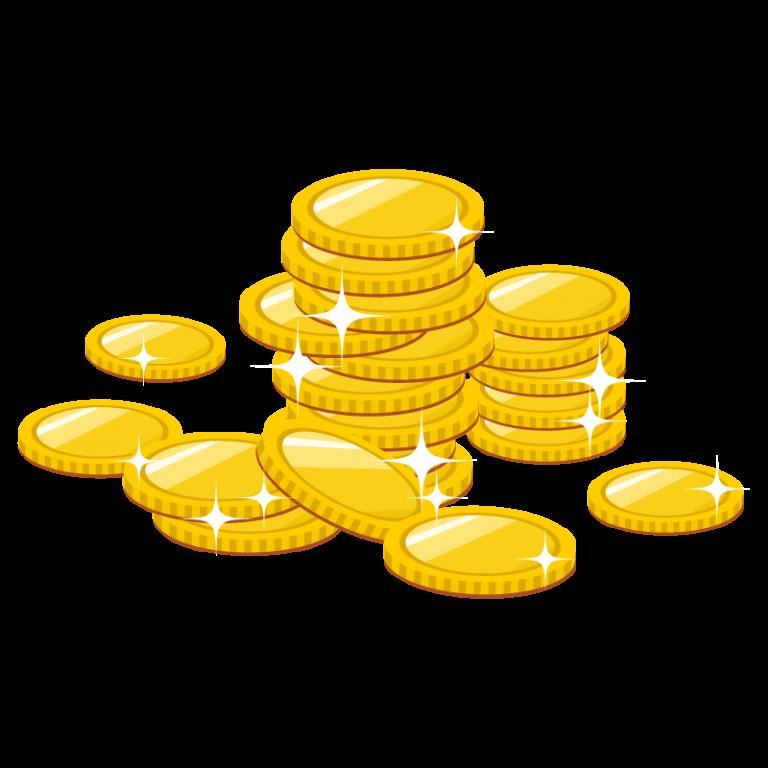 お金(コイン)のイラスト素材