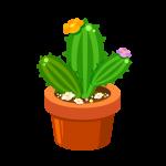 植木鉢に入ったサボテン(観葉植物)のイラスト素材