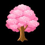 春に咲く桜の花/桜の木(さくら・サクラ)のイラスト素材