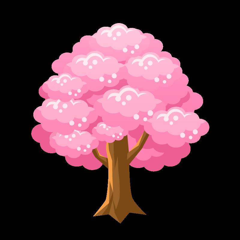 桜の木さくらサクラのイラスト素材 商用可能な無料フリーの