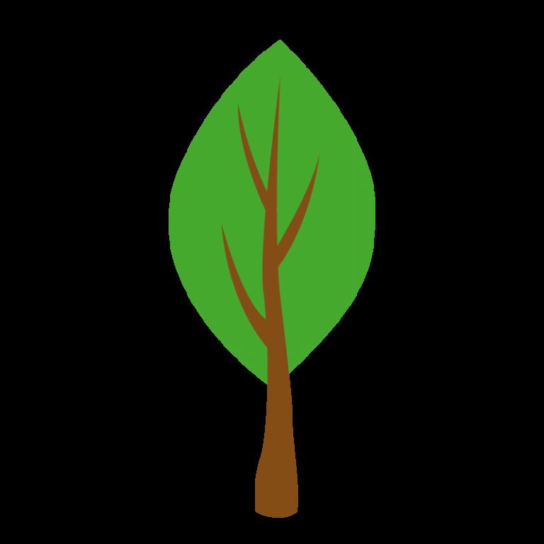 曲がった木のイラスト素材