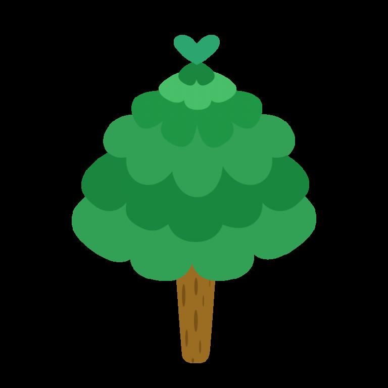 モコモコした木のイラスト素材