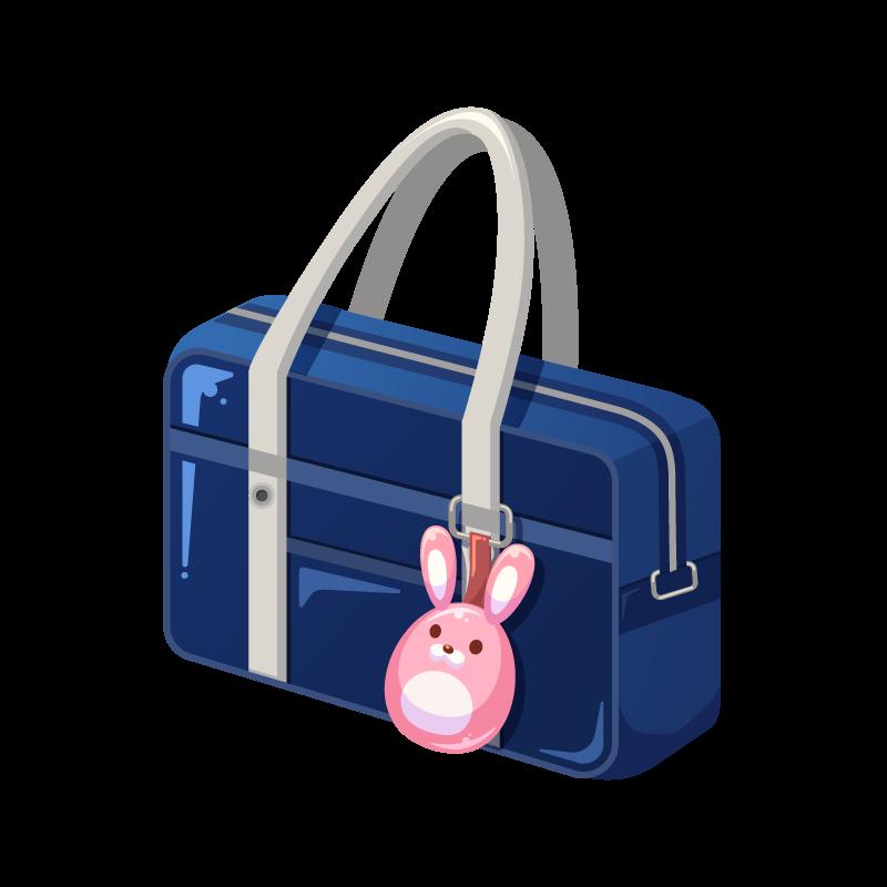教科書などを入れる学生カバンスクールバッグのイラスト素材 商用