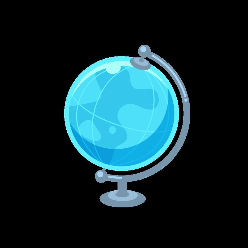 世界地図がわかる地球儀のイラスト素材 商用可能な無料フリーの