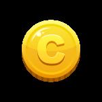 光り輝くゴールドコイン(お金/メダル/硬貨)のイラスト素材