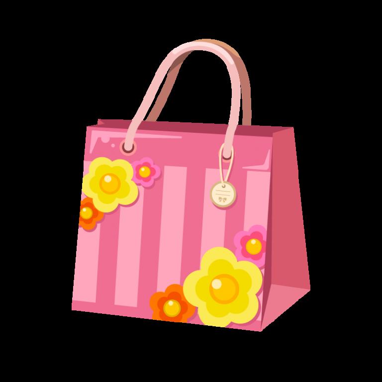 買い物で使う紙袋(ペーパーバッグ)のイラスト素材