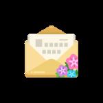 手紙(レター/便箋/封筒/メール)のイラスト素材