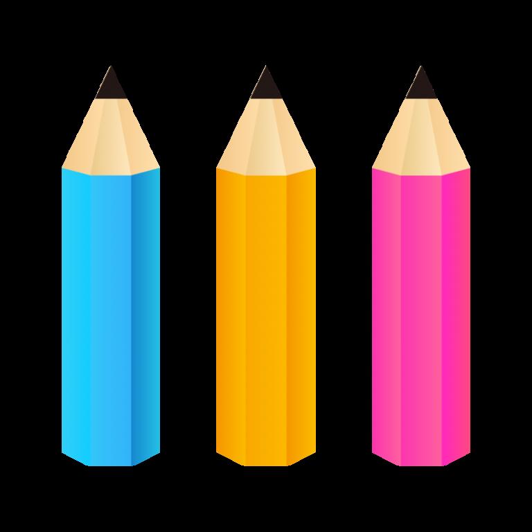 鉛筆(えんぴつ)のイラスト素材