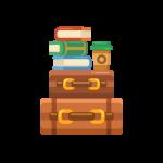 キャリーバッグ(スーツケース/アタッシュケース/トランク/旅行かばん)のイラスト素材