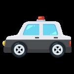 パトカー(自動車/警察車両)のイラスト素材
