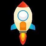宇宙ロケットのイラスト素材