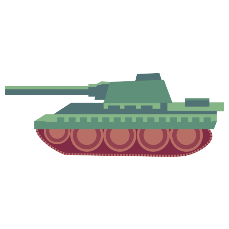 戦車のイラスト素材