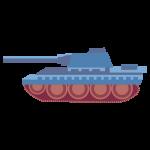 戦車(青色)のイラスト素材