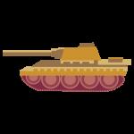 戦車(黄色)のイラスト素材