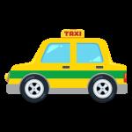 タクシー(ハイヤー/自動車)のイラスト素材