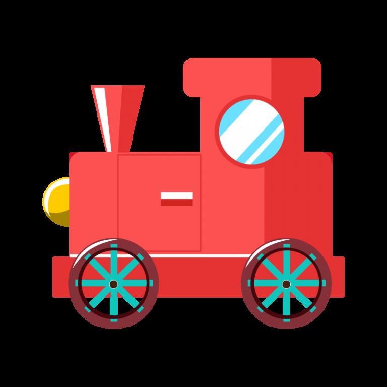 おもちゃの汽車ポッポのイラスト素材