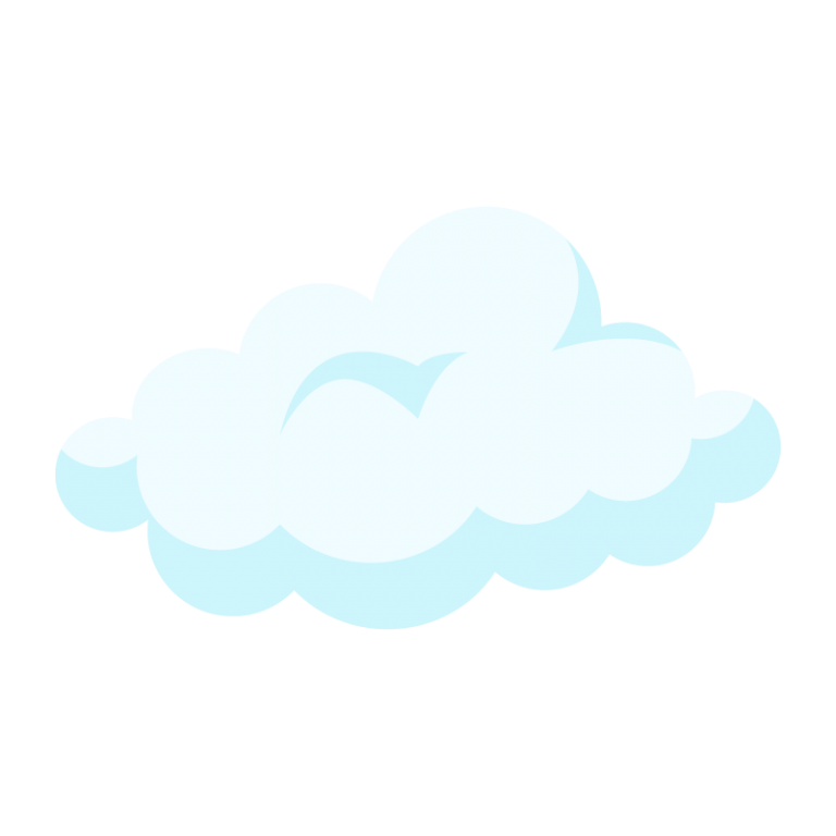 雲(くも)のイラスト素材