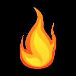 炎(火の玉)のイラスト素材