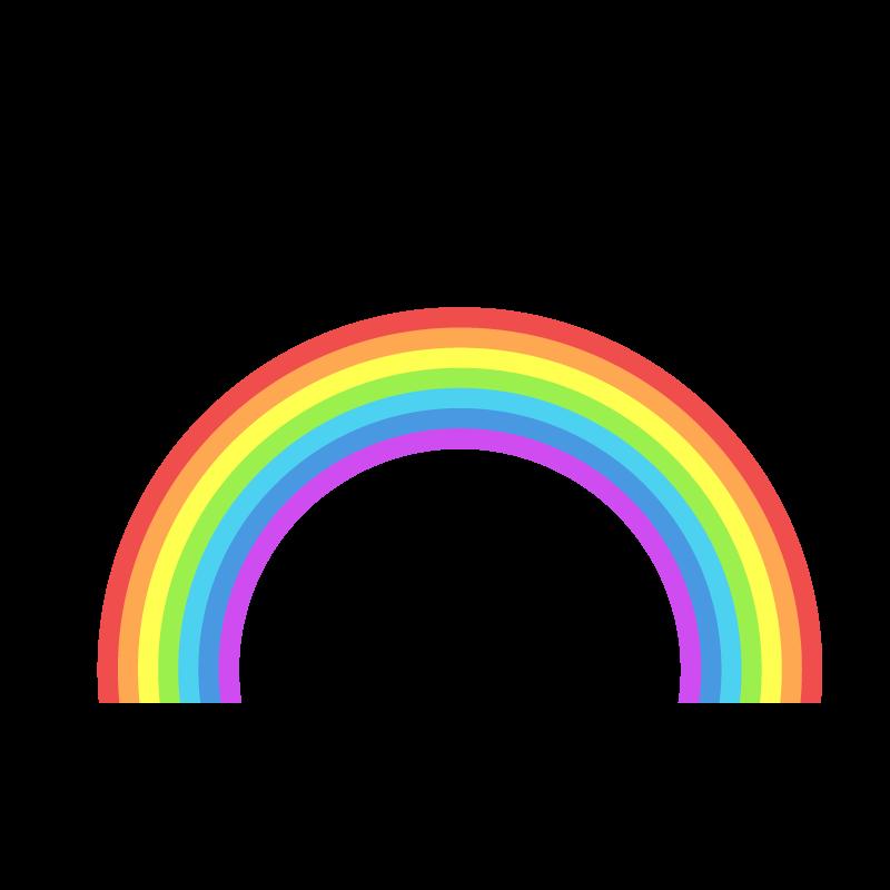 虹レインボーのイラスト素材 商用可能な無料フリーのイラスト